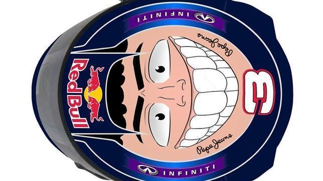 El divertido casco que Daniel Ricciardo llevará en Abu Dhabi