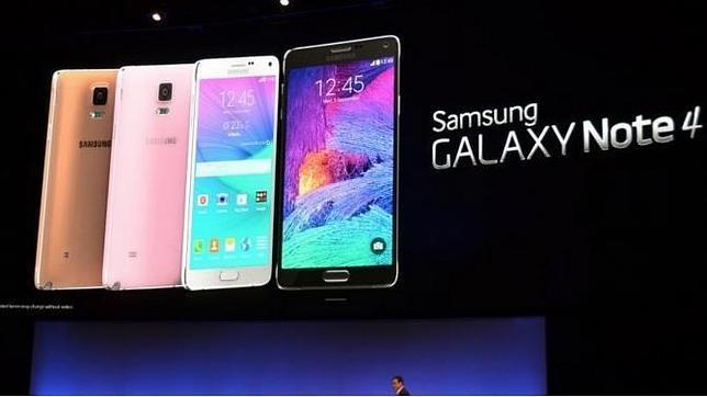 Samsung vende 4.5 millones de su «phablet» Note 4 en su primer mes