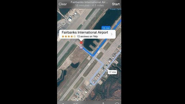 «Mapas» de Apple hace que los usuarios crucen una pista de aterrizaje en Alaska