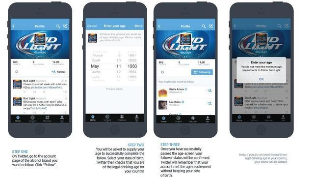 Twitter prohíbe a los menores de edad a seguir marcas de bebidas alcohólicas