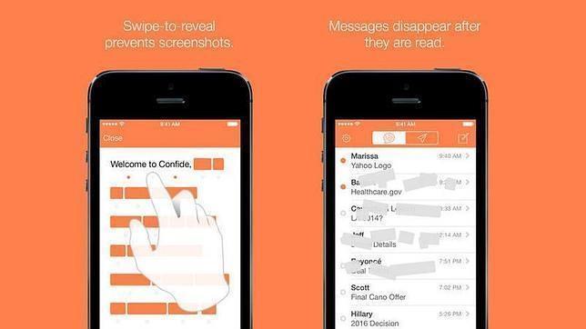 Confide, el WhatsApp de mensajes secretos, llega a Android