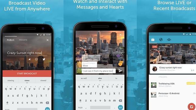 La aplicación de «streaming» Periscope llega a Android
