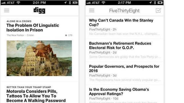Digg lanza su lector de RSS para cubrir el hueco dejado por Google Reader