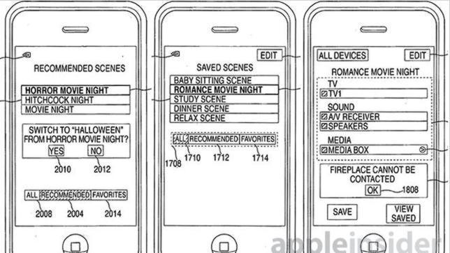 Apple patenta un sistema para el iPhone que controla el entretenimiento de los hogares