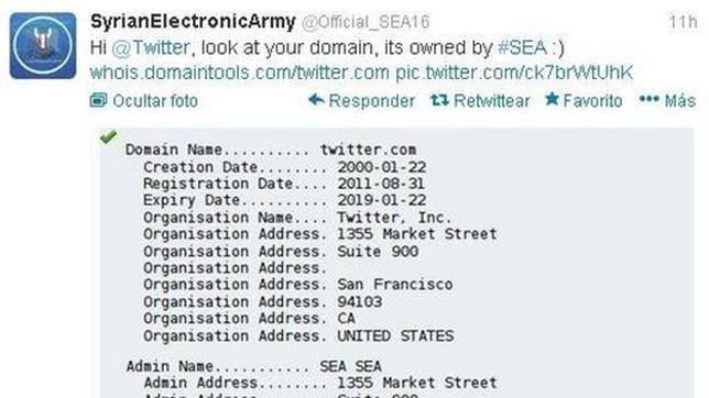 El Ejército Electrónico Sirio «hackea» el dominio de Twitter.com