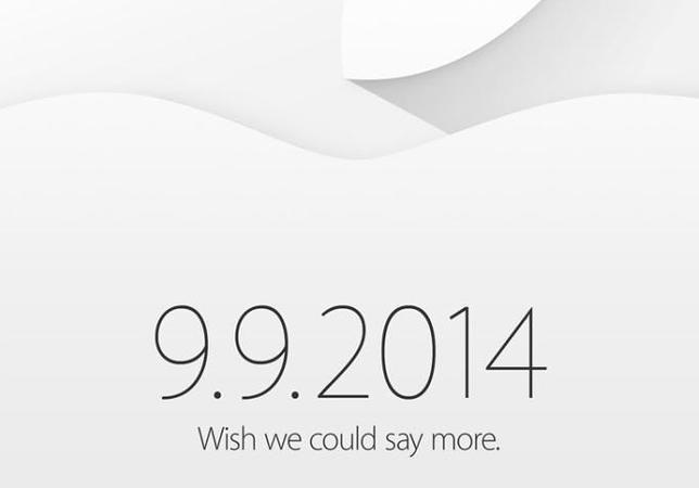 Apple confirma un evento para el 9 de septiembre: «nos gustaría poder decir más»