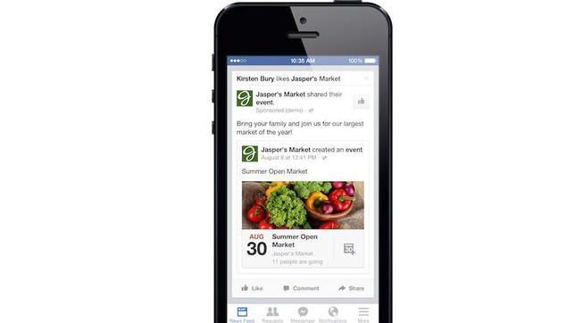 Facebook permite crear anuncios de eventos a las «Páginas»