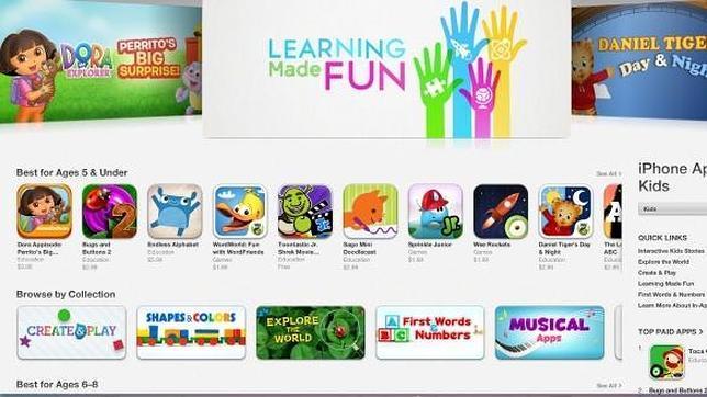 Apple inaugura su propia tienda de aplicaciones pensadas para los niños