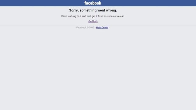 Facebook presenta fallos en su servicio