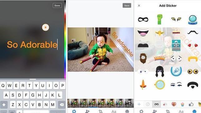 Facebook busca parecerse más a Snapchat con nuevas funciones de edición de fotos