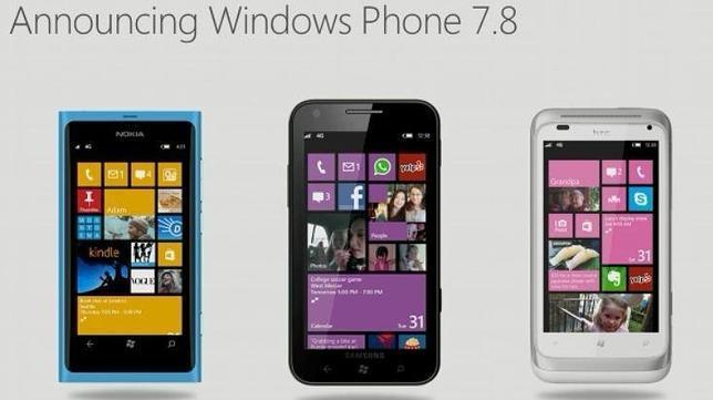 La versión 7.8 de Windows Phone llegará el primer trimestre de 2013