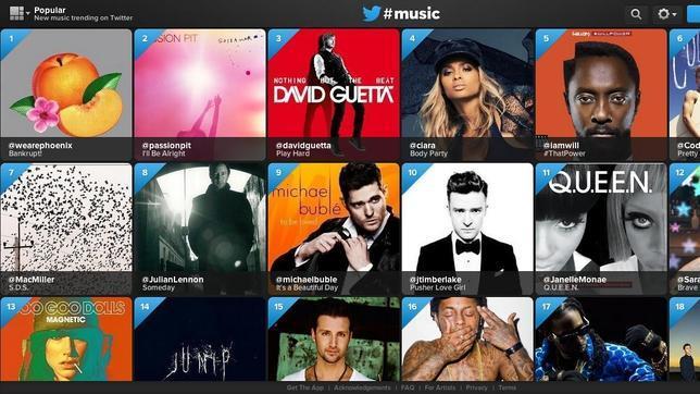 Así funciona Twitter Music, el nuevo servicio de música