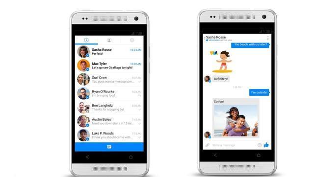 Facebook prueba un nuevo diseño de su aplicación Messenger