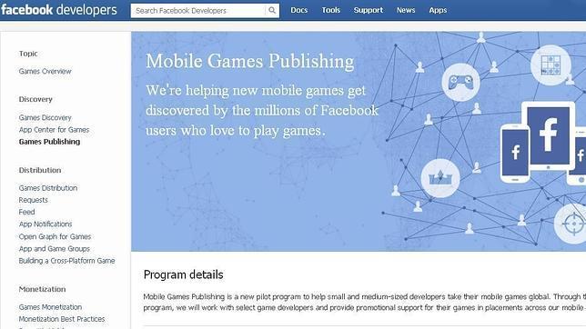 Facebook se convierte en editora de videojuegos con Mobile Games Publishing