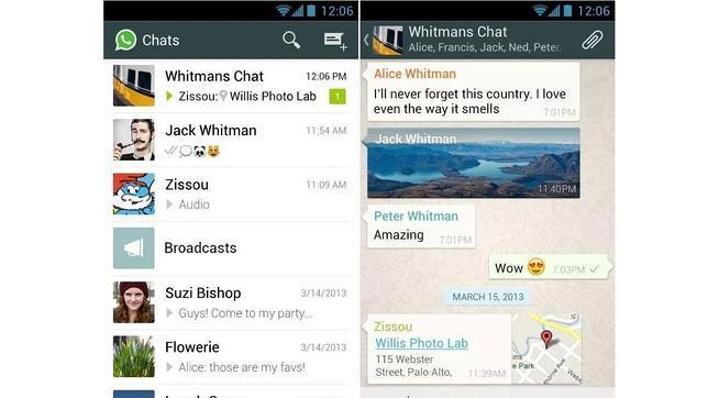 WhatsApp se actualiza en Android con el multienvío de imágenes