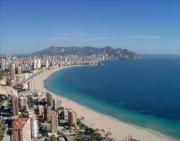 vista panormica de la playa de poniente de benidorm
