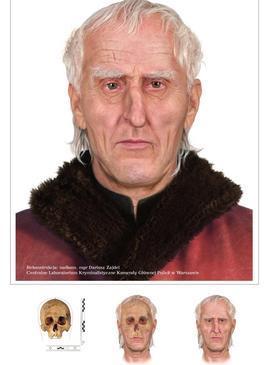 Reconstrucción del rostro de Copérnico a partir del cráneo hallado en Frombork / AP