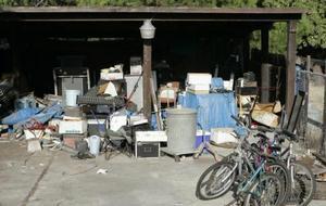 Media vida en un garaje