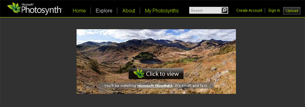 Photosynth de Microsoft para crear «vistas virtuales» con iOS