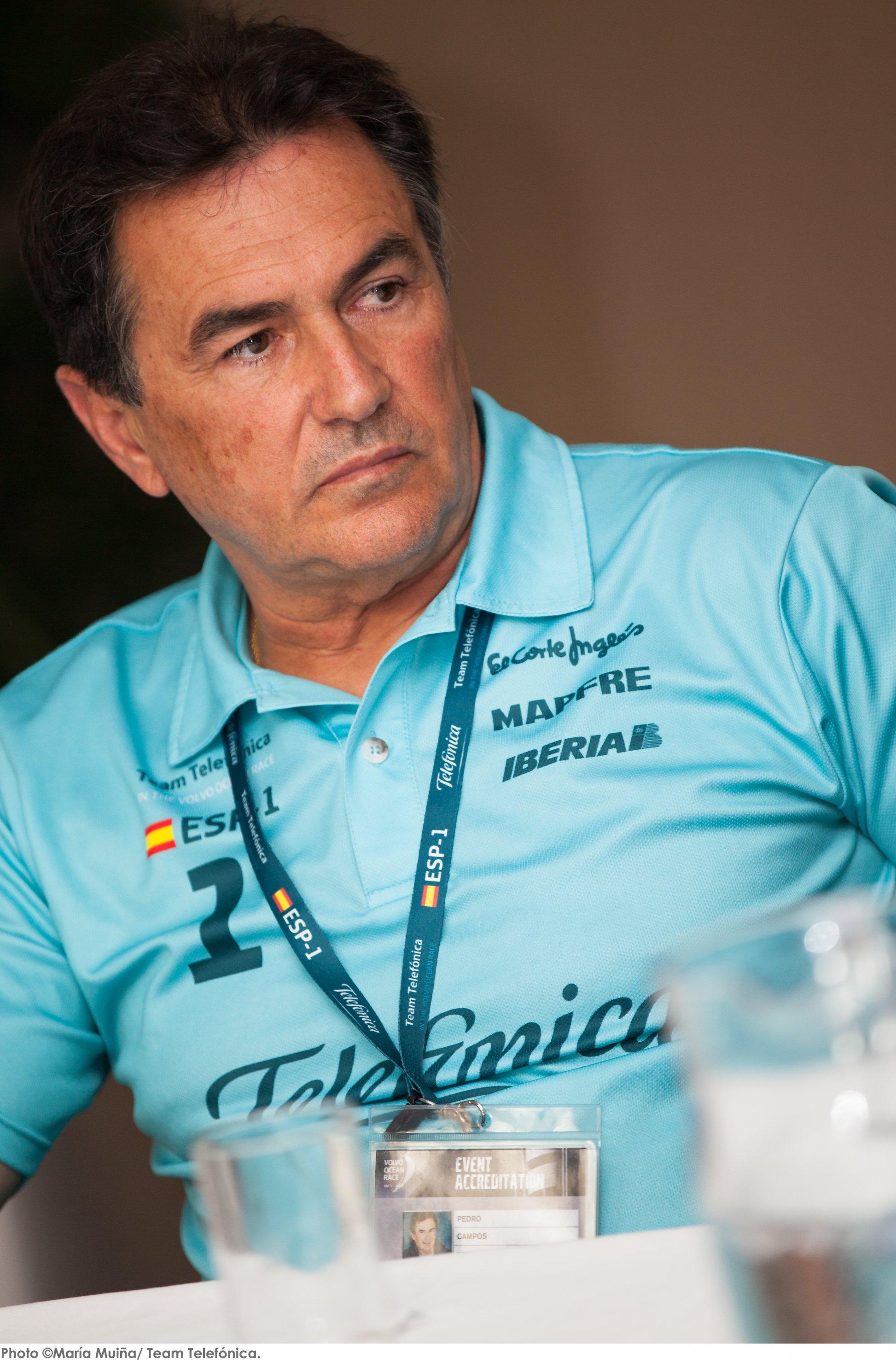 """El director general del Team Telefónica, Pedro Campos, ha señalado hoy, al respecto de la participación futura del equipo en la Volvo Ocean Race que """"sólo ... - campos"""