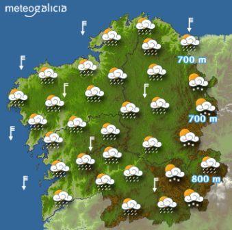 galicia meteo: