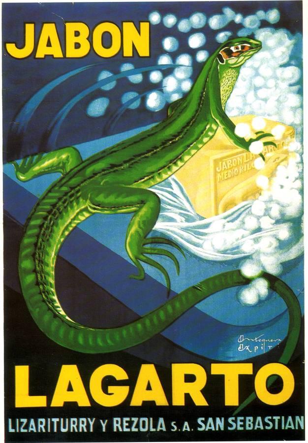 Cartel de Jabón Lagarto de 1924