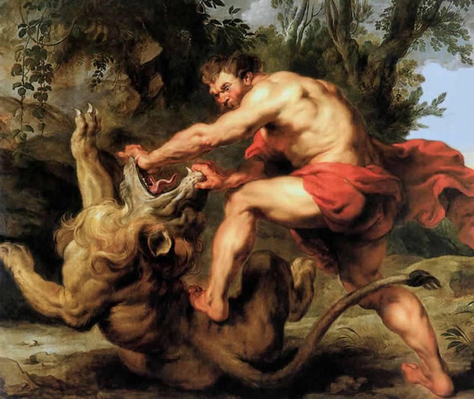 «Sansón y el león», de Rubens