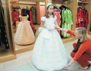 Vestidos de primera comunion en organdi suizo