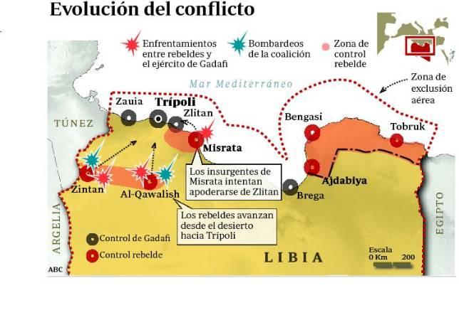 Los rebeldes libios se sitúan a solo 50 kilómetros de Trípoli
